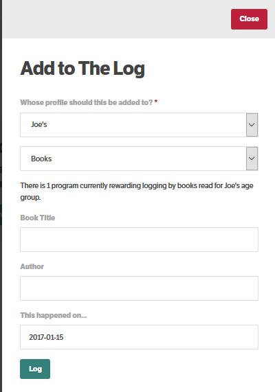 log entry form